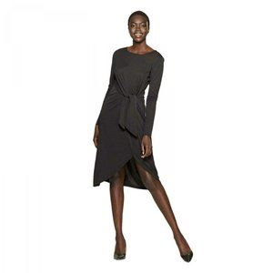 NWT Who What Wear Knit Tie Waist Dress Black M
